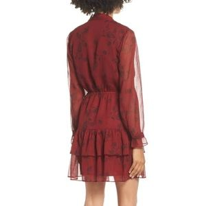 BB Dakota Dresses - BB Dakota Wine Down Chiffon Dress, Size XS